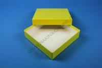 Mittlere Geschenkbox gelb - glänzend - 13,6 x 13,6 x 3,2 cm