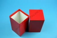 Kleine Geschenkbox rot - hochglanz - 7,6 x 7,6 x 13 cm