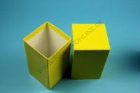 Kleine Geschenkbox gelb - hochglanz - 7,6 x 7,6 x 13 cm