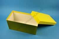 Große Geschenkbox gelb - glänzend - 13,6 x 26,8 x 13 cm