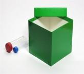 Mittlere Geschenkbox grün - glänzend - 13,6 x 13,6 x 13,0 cm